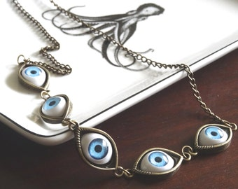 Bronze Eyeball Necklace