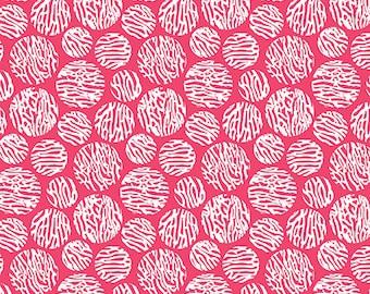 Cercles sur fond rouge de la Collection Barbade Andover du tissu