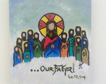 Painting on wood. Enlightened Gospel