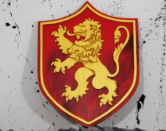 House Lannister crest Game of Thrones wall art