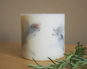 Rosemary Soy Wax Pillar Candle (Large)