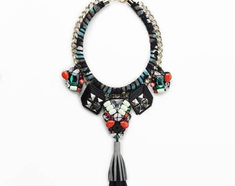 Jewel necklace made from modular parts made in Italy