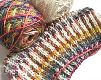 20 Colour Self Striping Hand Dyed Yarn Great for Brioche Knits 100g 180m