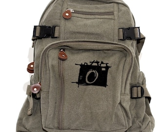 Backpack Sketch Camera, Canvas Backpack, Rucksack, Travel Backpack, Camera Bag, Small Backpacks, Men's Backpack, Women's Backpack