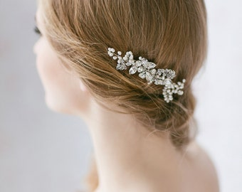 Wedding Hair Comb with Crystals and Pearls, Bridal Crystal Comb, Freshwater Pearl Hair Comb ,Bridal Hair Piece , Wedding Hair Accessories