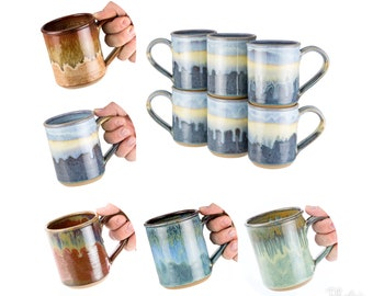 Handmade pottery mug- choose your size and color / coffee mug   wheel thrown pottery mug, handmade stoneware / MADE TO ORDER- Allow 6 weeks-