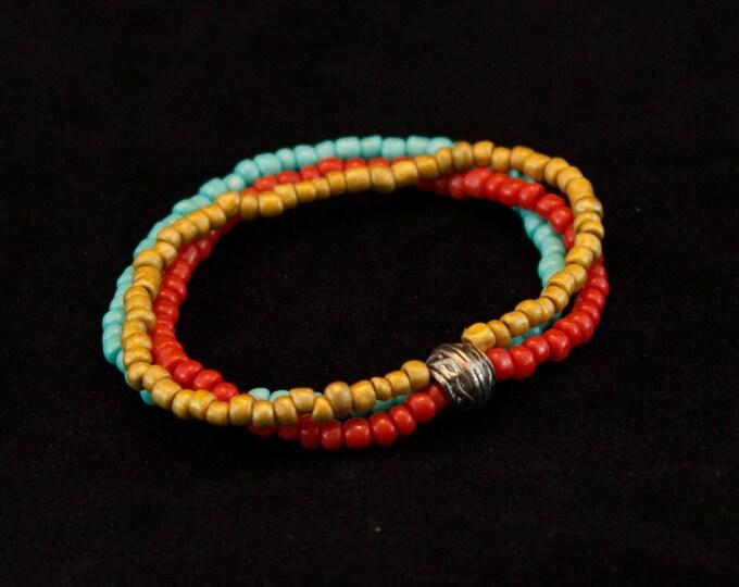 Handcrafted jewelry, 3 strand layer bracelet