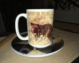 Grizzly Girl Large Coffee Mug 15 Oz