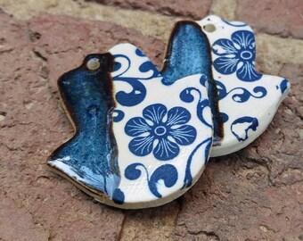 Hamsa Blue Flower Necklace