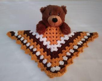 Plush dark brown bear