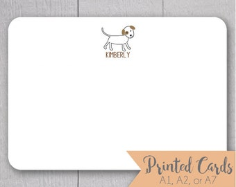 Dog Note Cards - 24pk, Dog Note Cards, Personalized Flat Note Cards, Printed without Envelopes (NC-011)