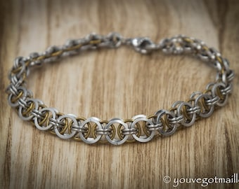 Delicate Helm Weave Chainmaille Bracelet