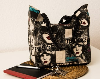 Cotton fashion printed tote bag