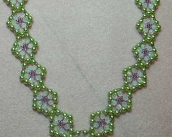 Lady in Waiting Necklace PDF Pattern Tutorial (INSTANT DOWNLOAD)