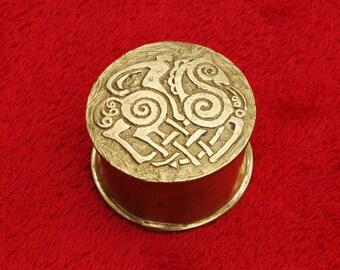 Odin and Sleipnir Trinket Box in Bronze