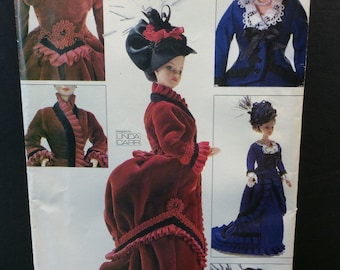 """Vogue Craft Fashion Doll Sewing Pattern 7100 685 Vintage Historical Clothes Linda Carr 11.5"""""""