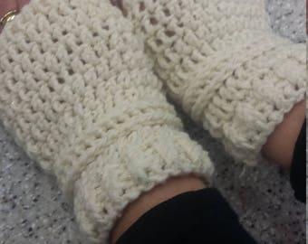 Chunky fingerless gloves