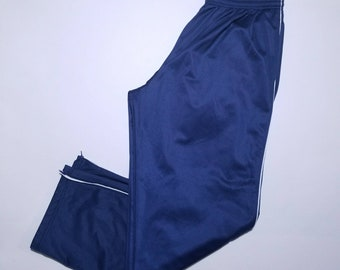 Athletic Wear Blue Pocketed Sweat Pants