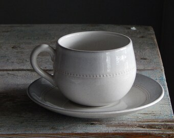 Vintage Hoganas Keramik Sweden Savoy Tea cup and Saucer Scandinavian Design Stoneware