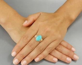 Amazonite Ring, Amazonite Gemstone Ring, Gold Filled Ring, Amazonite Jewelry, Wire Wrapped Ring, Gemstone Ring
