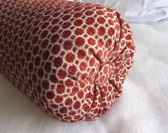 poppy brick/red chenille decorative Bolster Pillow 6x14  6x16  6x18  6x20  6x22