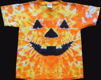 Youth Tie Dye T-shirt Jack O'Lantern