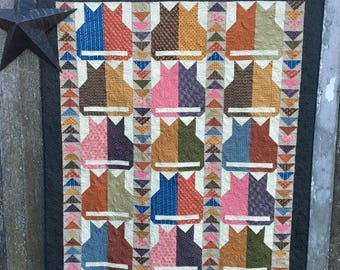 Quilt Pattern - Scrappy Cats