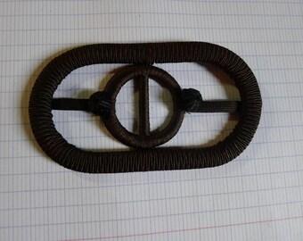 antique belt buckle textile 1930