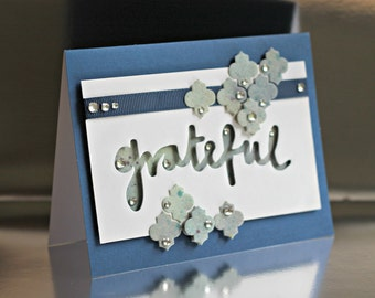 Handmade 'Grateful' Greeting Card