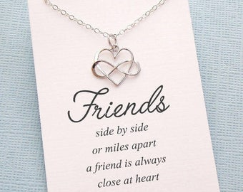 Friendship Necklace | Infinity Necklace, Best Friend Gift, Best Friend Necklace, Friends Friendship Gift, Best Friend Necklace, Sister | F04
