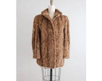 mink fur coat | 50s mink coat | authentic  mink coat