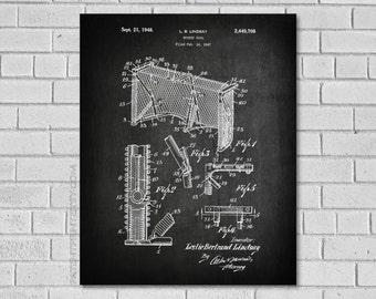 Hockey Decor - Hockey Goalie Art - Hockey Goal Patent Print - Lindsay Hockey Goal Patent - Hockey Patent -Hockey Goal Wall Art-Hockey SH708
