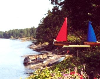 Varnished WindRacer - Nautical Garden Whirligig