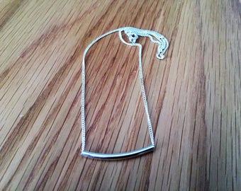 Bar Necklace, Pendant Necklace, Gold Bar Necklace, Friendship Necklace, Silver Bar Necklace