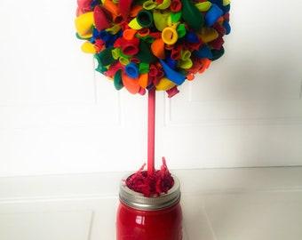 Birthday Party Centerpiece Balloon Topiary - One Topiary Balloon Centerpiece Birthday Balloon Topiary Centerpiece