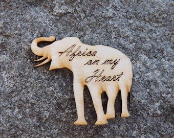 Set of 25 Rustic Elephant Wood Magnets, Rustic Wedding Favors, Engraved, Baptism , Personalized,  Custom, Country, Shabby Chic