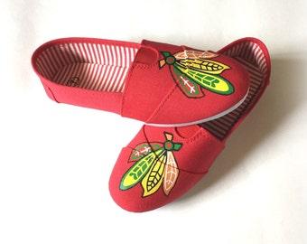 Chicago Blackhawks Shoes, Women's Blackhawks Shoes, Hockey Shoes