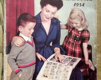 Almanac Le petit Écho de fashion Almanac 1954 sewing, knitting, knitting antique french magazine