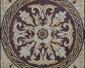 Renaissance Chic Wall Hanging Floor Inlay Marble Mosaic GEO2598