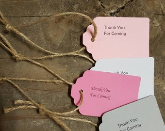 Thank You for Coming Tags w/ Jute Twine 10-Pack