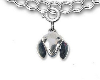 Sterling Silver Nubian Goat Charm