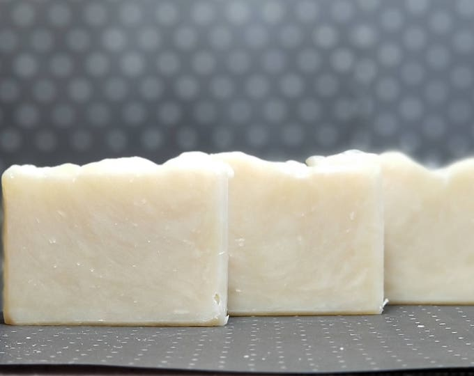 Cocoa Butter Kisses Facial Soap --  All Natural, Handmade, Barely Scented, Hot Process, Vegan, Cocoa Butter Soap, Free Shipping