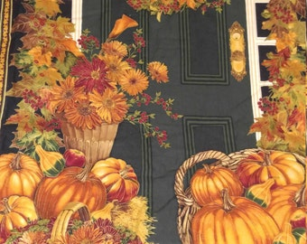 Thanksgiving banner, harvest quilt, wall hanging, christmas, holiday banner, pumpkins, squash,