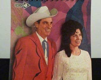 Recycled vinyl album cover notebook - Ernest Tubb and Loretta Lynn!