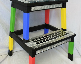 Made to order - Mosaic step stool