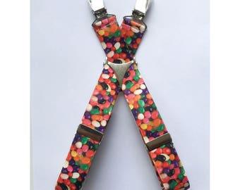"Adjustable 1"" Suspenders- Jellybeans"