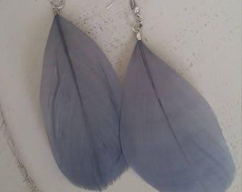 Gray earrings, handmade, gift for her, jewelry