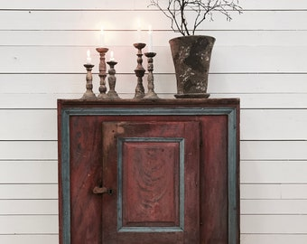 Beautifully Painted Antique Swedish Cabinet