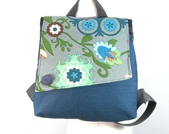 Mini backpack purse, Zipper knapsacks, Turquoise summer bag, Holiday gift for her, Small backpack, Woman backpack, Light weight bag