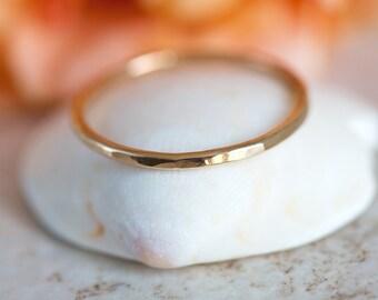 14K Gold Filled Stacking Ring, Yellow Gold Filled Band Ring